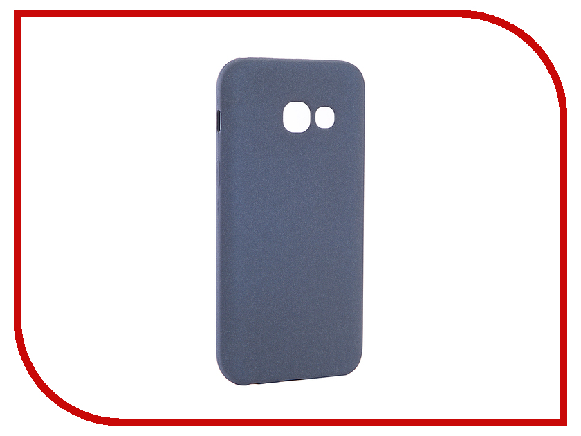 Аксессуар Чехол Samsung Galaxy A3 2017 A320F Zibelino Cover Back Elegant Dark Blue ZCBE-SAM-A320F-DBL аксессуар защитное стекло samsung galaxy a3 2017 solomon full cover black
