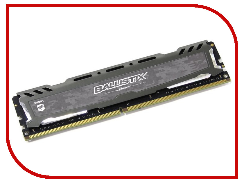 Модуль памяти Crucial Ballistix Sport LT Gray DDR4 UDIMM 2666MHz PC4-21300 CL16 - 4Gb BLS4G4D26BFSB