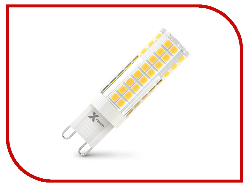 Лампочка X-flash XF-G9-M75-4.4W-3000K-230V 47956 globo потолочная люстра globo elliott 54341 3o