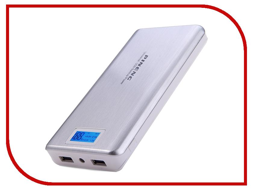 Аккумулятор Pineng PN-999 20000mAh Silver зарядное устройство 100% pineng 10000mah pn 938 led dual usb pn938