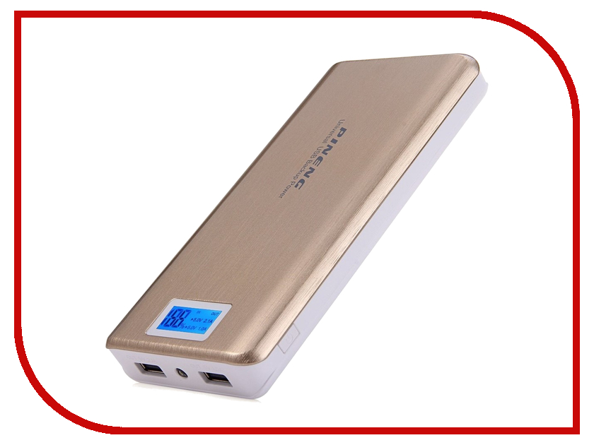 Аккумулятор Pineng PN-999 20000mAh Gold аксессуар pineng pn 305 usb lightning gold