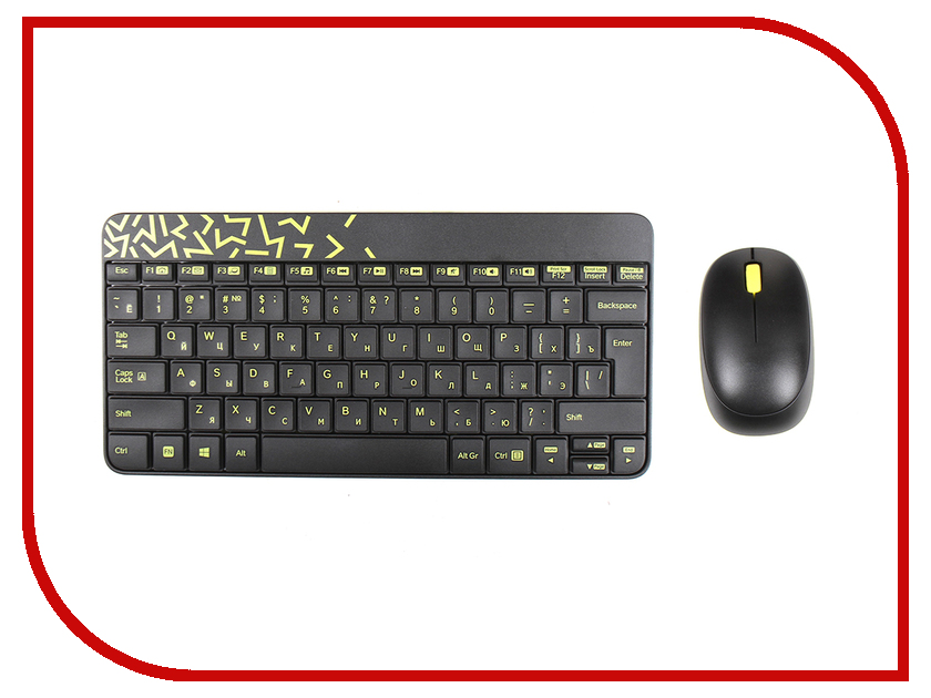 Набор Logitech Wireless Combo MK240 Nano Black-Yellow 920-008213
