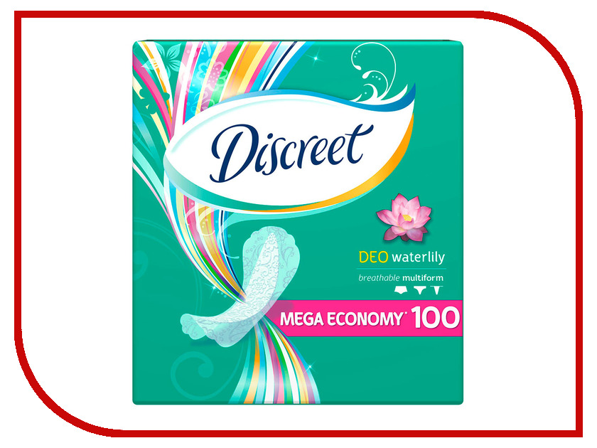 Discreet Ежедневные Deo Water Lily Multiform AD-83734675 100шт  discreet ежедневные deo water lily multiform single ad 83728310 20шт