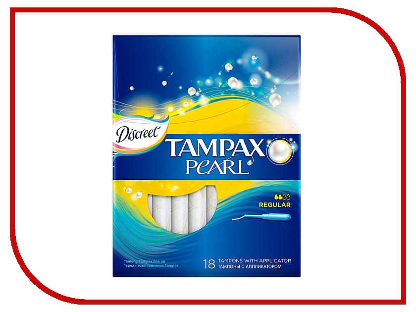 Tampax Discreet Pearl Regular Duo TM-83726366 18шт