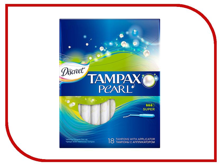Tampax Discreet Pearl Super Duo TM-83726367 18шт