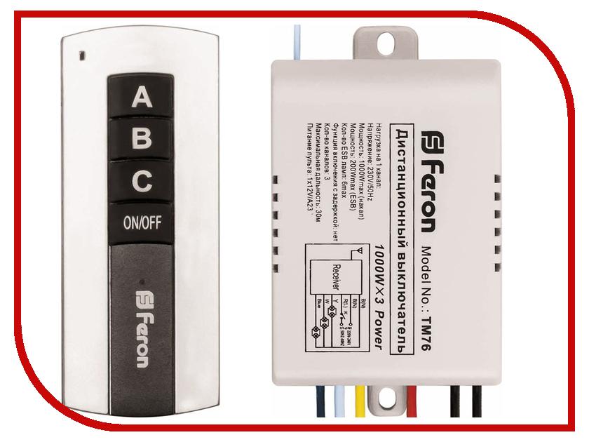Выключатель Feron TM76 23345 лампа feron black de1716