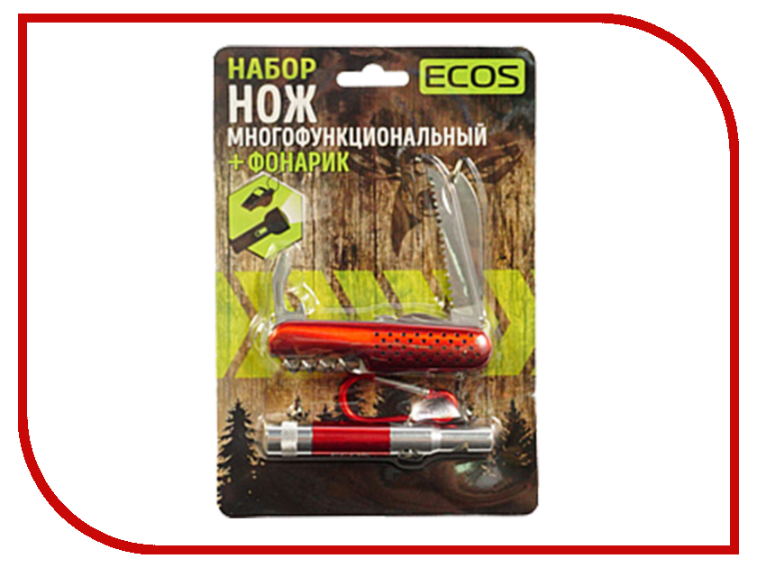 Нож Ecos Red 325126