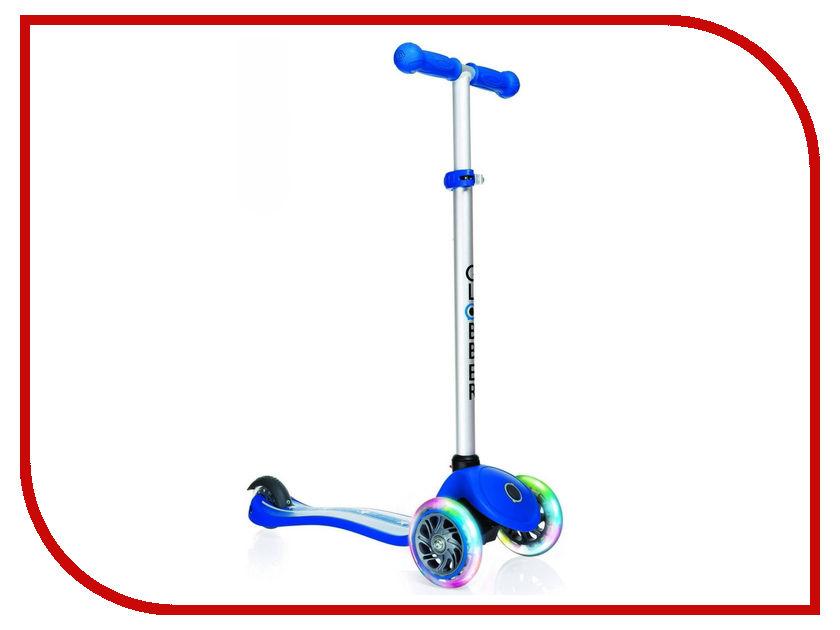 Самокат Y-SCOO Globber Primo Fantasy Stars&Strips Navy Blue со светящимися колесами трехколесные самокаты funny scoo pony cо светящимися колесами