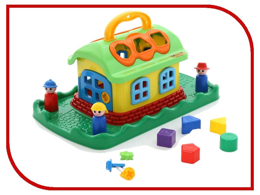 Сортер Полесье Сказочный домик на лужайке 48752 домик из картона сказочный замок картонный папа
