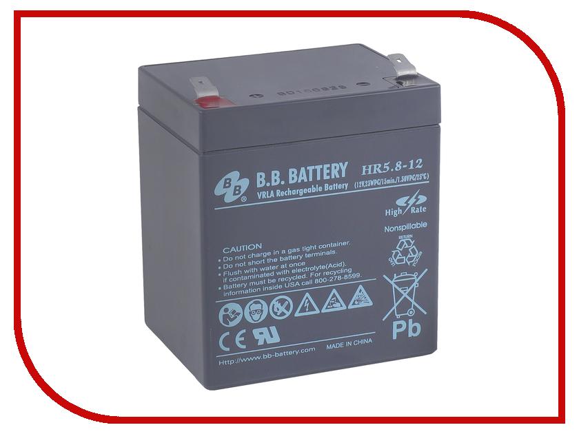 Аккумулятор для ИБП B.B.Battery HR 5.8-12 аккумулятор для ибп ventura hr 1290w