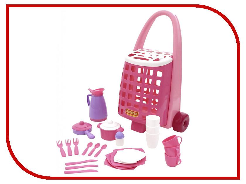 Игра Полесье Забавная тележка + набор детской посуды 44389 klein набор детской посуды wmf 10 предметов