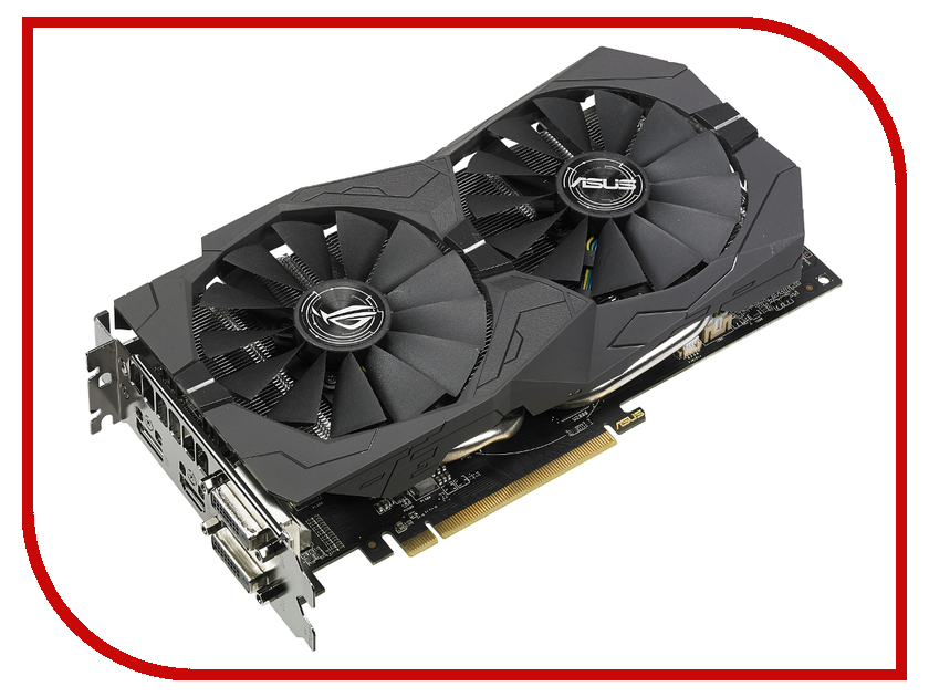 Видеокарта ASUS RX 570 1300Mhz PCI-E 3.0 4096Mb 7000Mhz 256 bit 2xDVI HDMI HDCP ROG-STRIX-RX570-O4G-GAMING 90YV0AJ0-M0NA00 2pcs vga gpu cooler gtx 1070 1060 rx 570 graphics card fan for asus dual gtx1060 gtx1070 rog strix rx570 video cards cooling