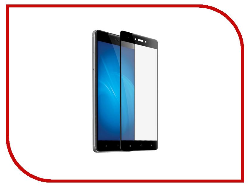 Купить Аксессуар Закаленное стекло для Xiaomi Redmi Note 4X DF xiColor-10 Black, DF-GROUP
