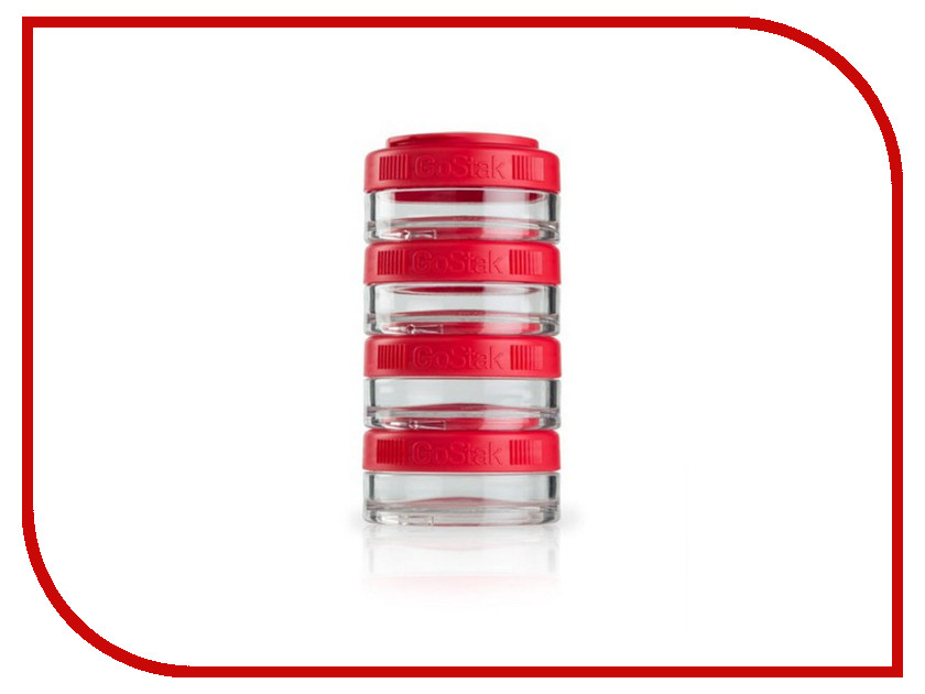 Набор контейнеров BlenderBottle GoStak 40ml Red BB-GS40-REDD от Pleer