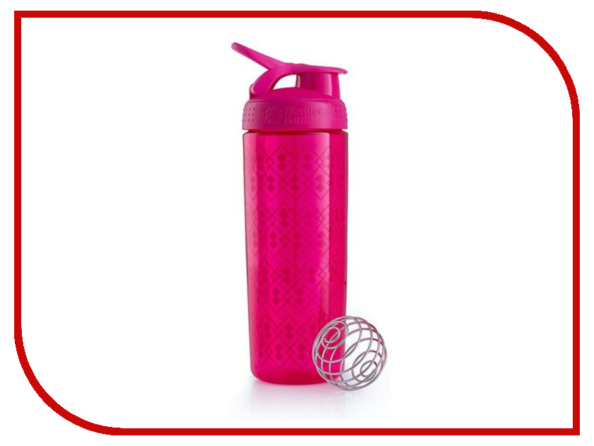 Шейкер BlenderBottle SportMixer Sleek 828ml Geo Lace Pattern Crimson