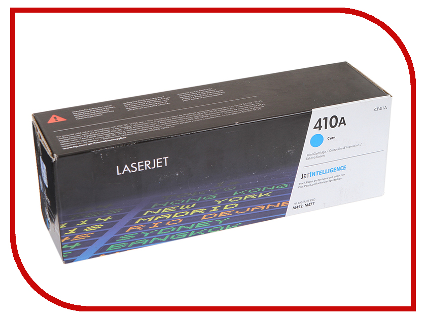 Картридж HP 410A CF411A Cyan для LaserJet принтер hewlett packard hp color laserjet cp5225 a3 ce710a