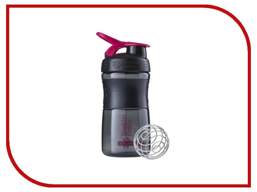 Шейкер BlenderBottle SportMixer 591ml Black-Crimson BB-SM20-BPIN шейкер blenderbottle sportmixer 828ml black crimson bb sm28 bpin