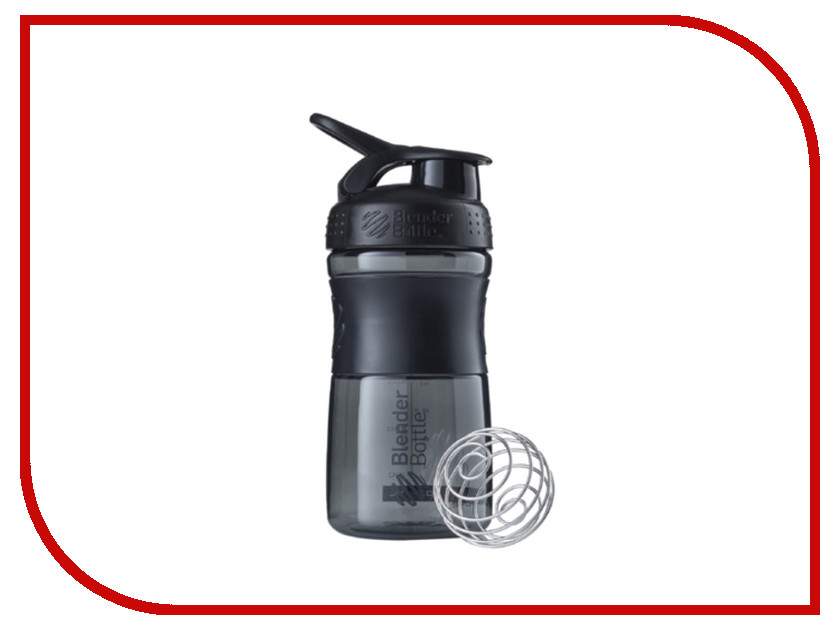 Шейкер BlenderBottle SportMixer 591ml Black-Black BB-SM20-BBLK<br>
