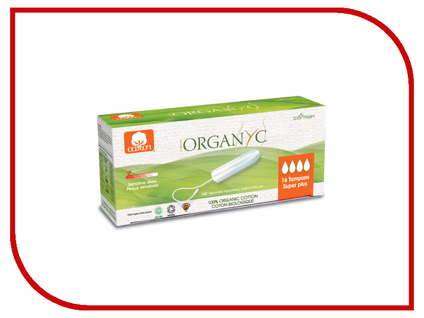 Organyc Super Plus 16шт 2590 tampax compak super duo tm 83730736 16шт