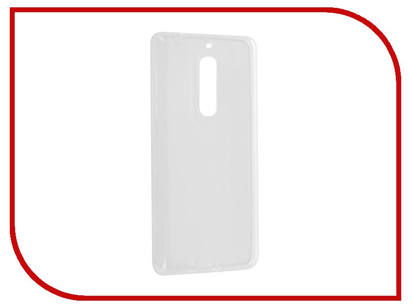 Аксессуар Чехол Nokia 5 Gecko Transparent-Glossy White S-G-NOK5-WH аксессуар чехол nokia 230 230 dual sim gecko transparent glossy white s g nok230 wh