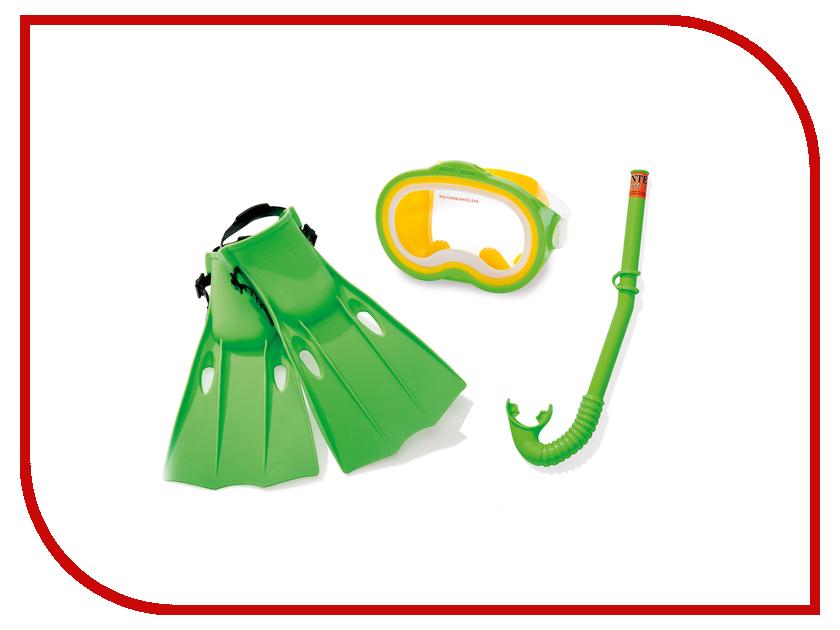Набор маска + трубка + ласты Intex C55955 набор для дайвинга маска трубка scubapro phoenix ii
