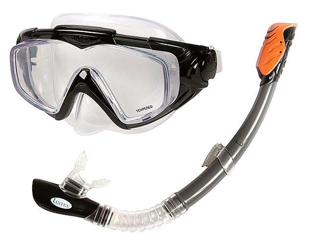 Фото - Набор маска + трубка Intex C55962 набор для плавания intex аква маска трубка цвет синий