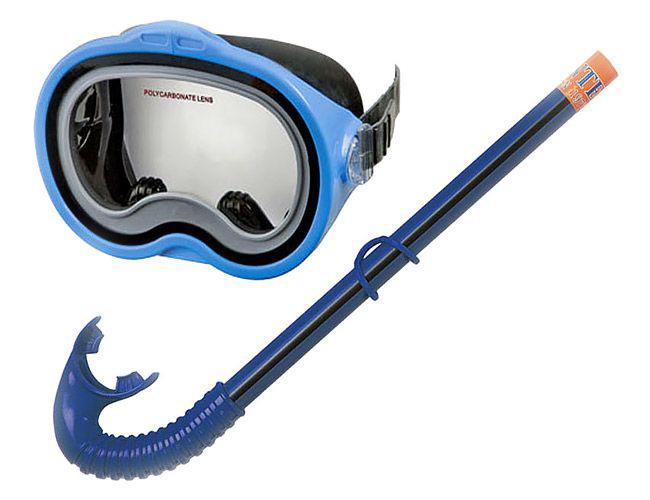 Фото - Набор маска + трубка Intex C55942 набор для плавания intex аква маска трубка цвет синий
