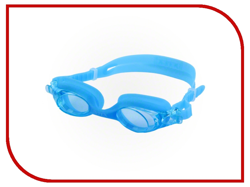 Очки Intex C55693 Blue кровать comfort plush 152х203х56см со встроенным насосом 220в intex 64418