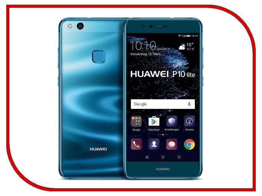 Сотовый телефон Huawei P10 Lite 32Gb RAM 3Gb Blue сотовый телефон huawei honor 8 4gb ram 32gb frd l09 blue