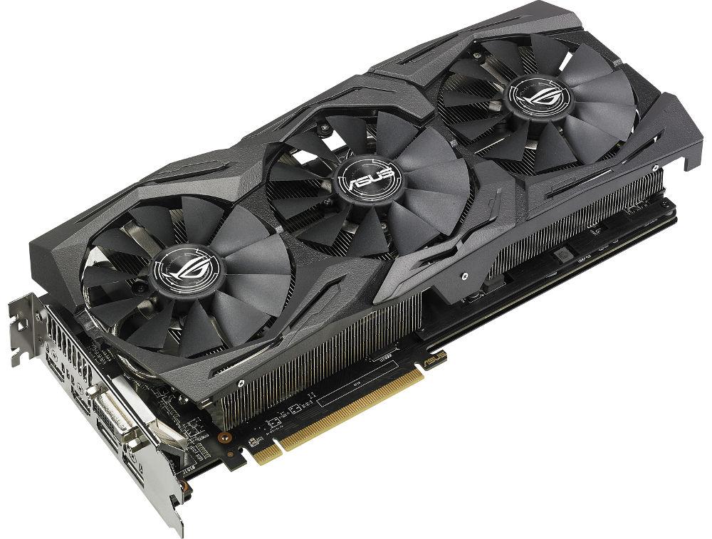 Видеокарта ASUS AMD Radeon RX 580 1360Mhz PCI-E 3.0 8192Mb 8000Mhz 256 bit DVI HDMIx2 HDCP ROG-STRIX-RX580-O8G-GAMING цена 2017