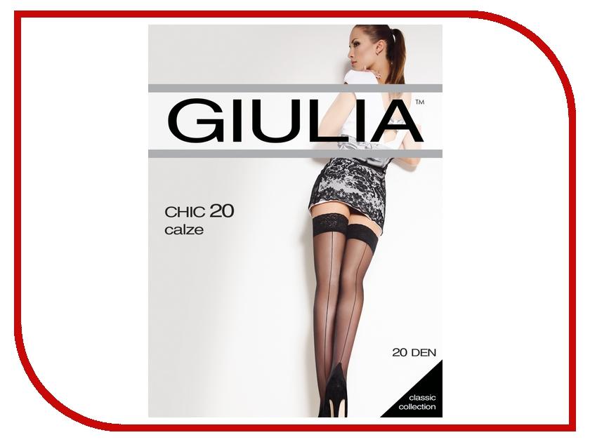 Чулки Giulia Chic размер 1/2 плотность 20 Den Nero чулки женские свадьба