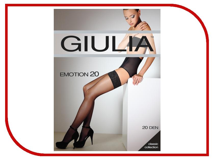 Чулки Giulia Emotion размер 1/2 плотность 20 Den Nero-Rosso чулки giulia чулки emotion 20 20 ден