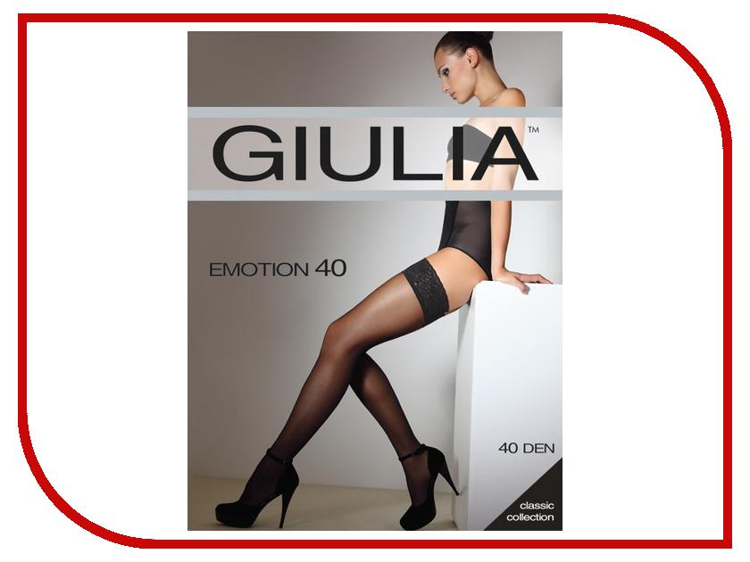 Чулки Giulia Emotion размер 1/2 плотность 40 Den Nero чулки giulia emotion размер 1 2 плотность 20 den playa