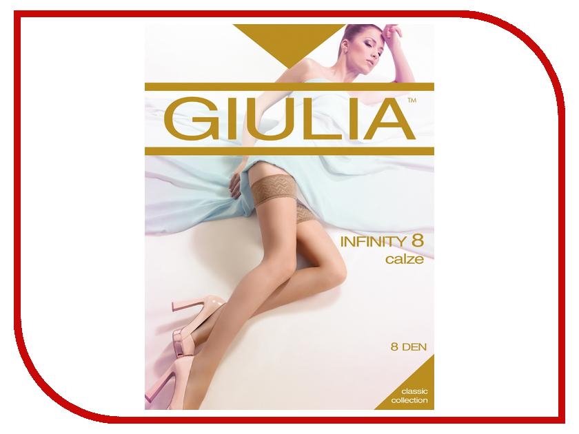 Чулки Giulia Infinity размер 3/4 плотность 8 Den Playa чулки giulia emotion размер 1 2 плотность 20 den playa