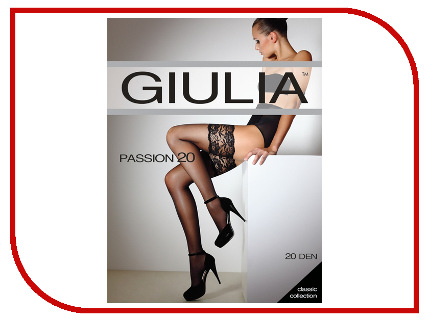 Чулки Giulia Passion размер 1/2 плотность 20 Den Daino чулки giulia emotion размер 1 2 плотность 40 den daino