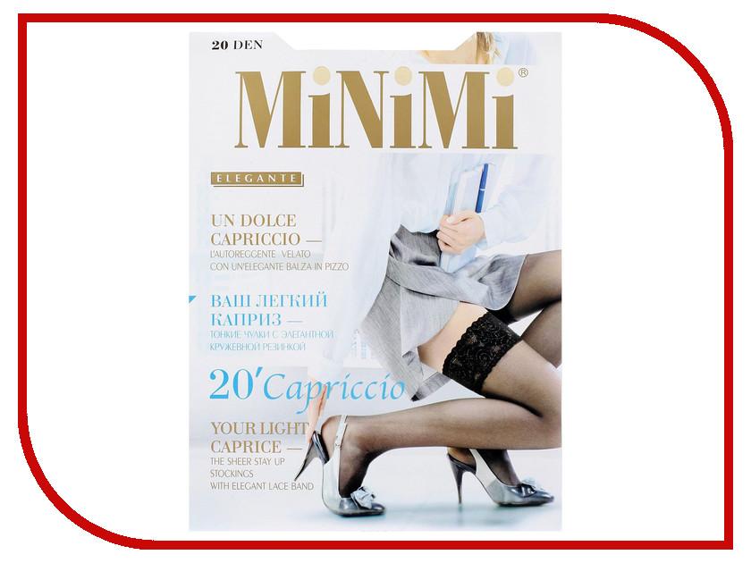 цены Чулки MiNiMi Capriccio размер 3/4 плотность 20 Den Nero