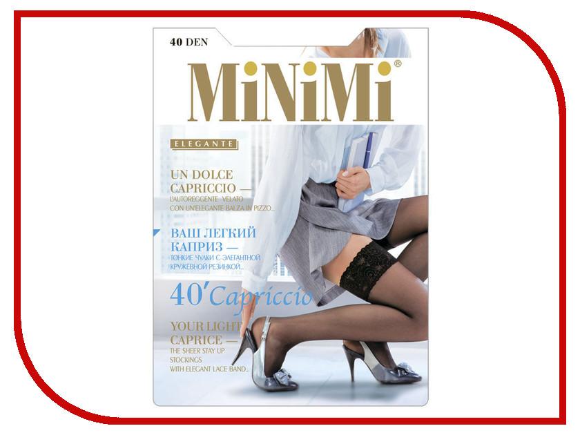 Чулки MiNiMi Capriccio размер 3/4 плотность 40 Den Nero цена 2017