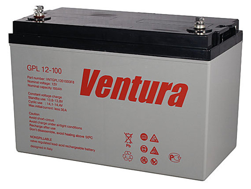 Аккумулятор для ИБП Ventura GPL 12-100 аккумулятор для ибп ventura gpl 12 120