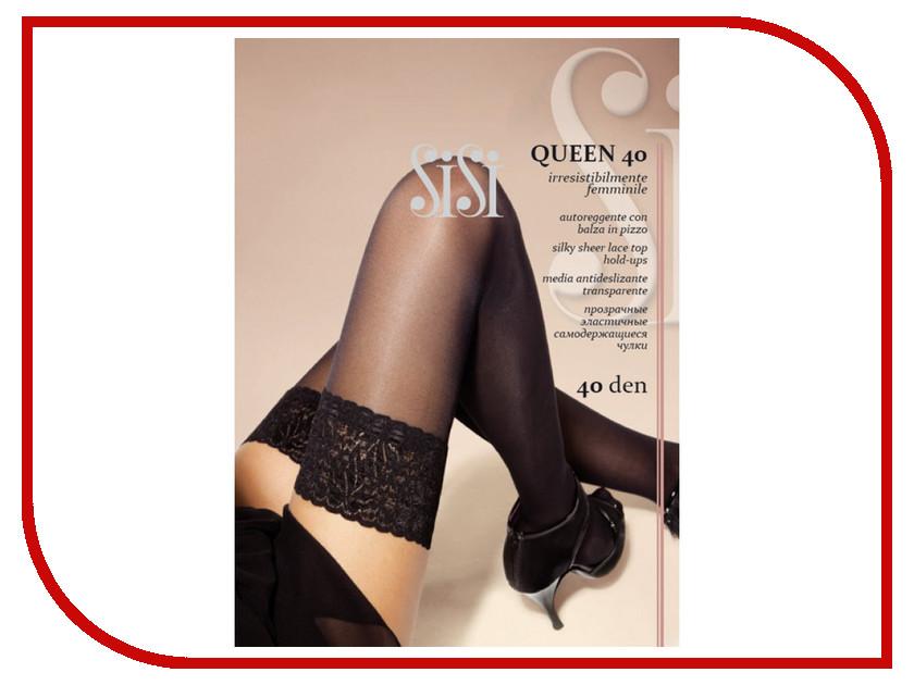 Чулки Sisi Queen размер 2 плотность 40 Den Nero sisi queen чулки 40 den цвет daino размер 4