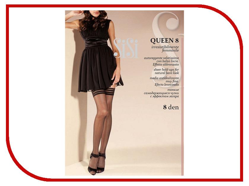 Чулки Sisi Queen размер 3 плотность 8 Den Nero sisi queen чулки 40 den цвет daino размер 4