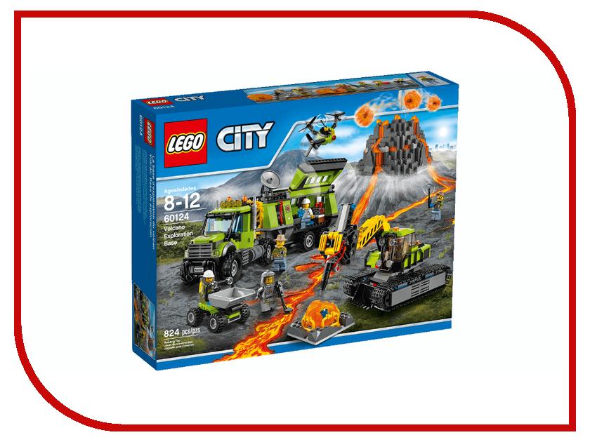 Конструктор Lego City Volcano Explorers База исследователей вулканов 60124 конструкторы lego lego city jungle explorer база исследователей джунглей 60161