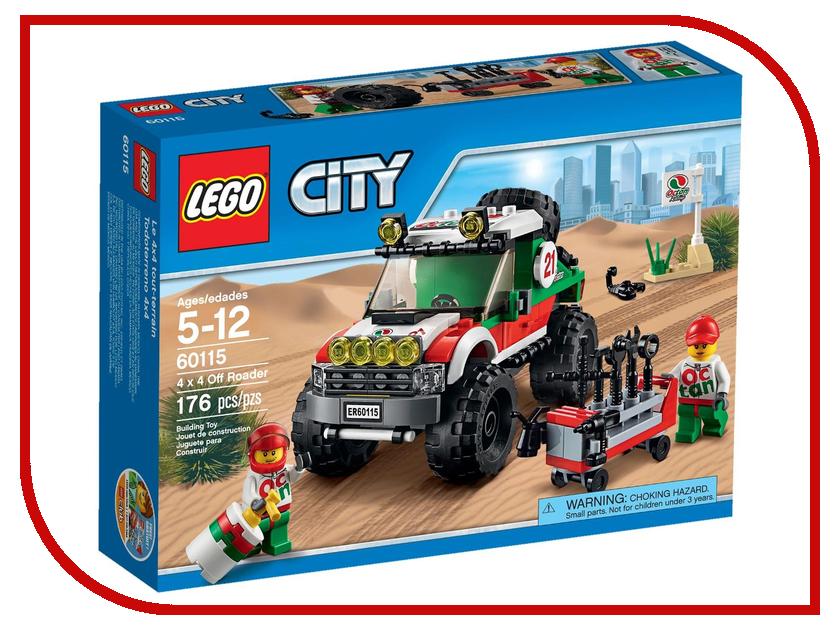 Конструктор Lego City Great Vehicles Внедорожник 4x4 60115 lego city конструктор внедорожник каскадера 60146