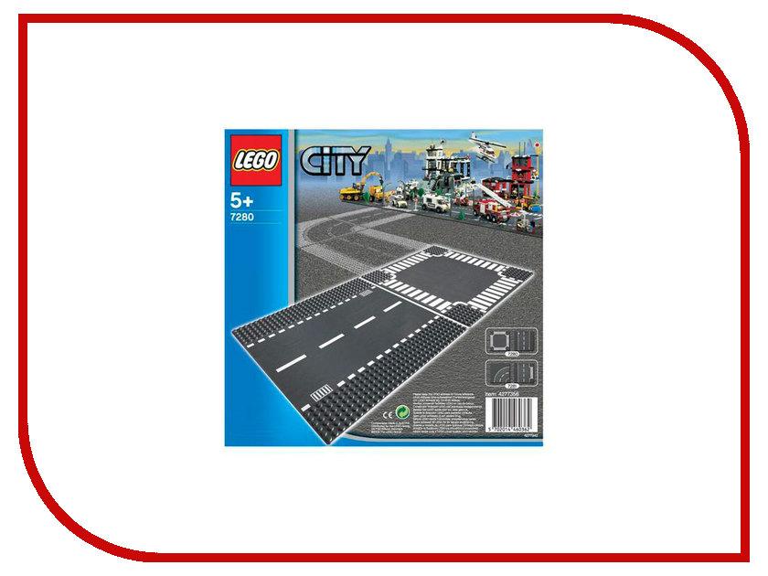 Плата Lego City Перекресток и прямые рельсы 7280