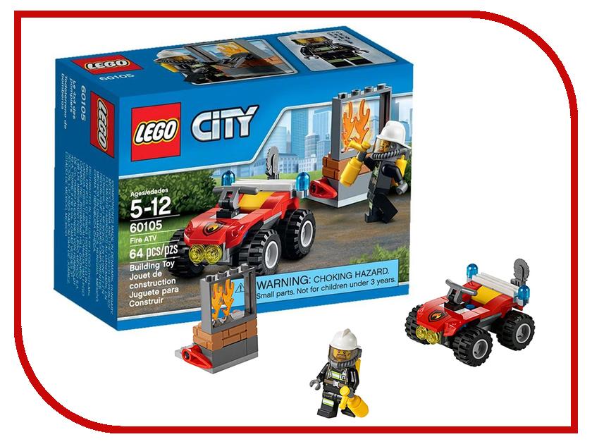 Конструктор Lego City Пожарный квадроцикл 60105