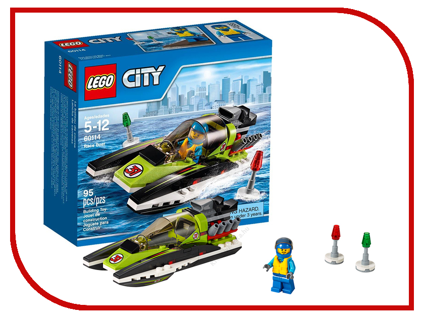 конструктор-lego-city-гоночный-катер-60114