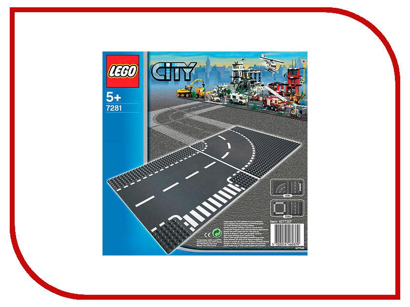 Плата Lego City Т-соединения и изогнутые рельсы 7281<br>