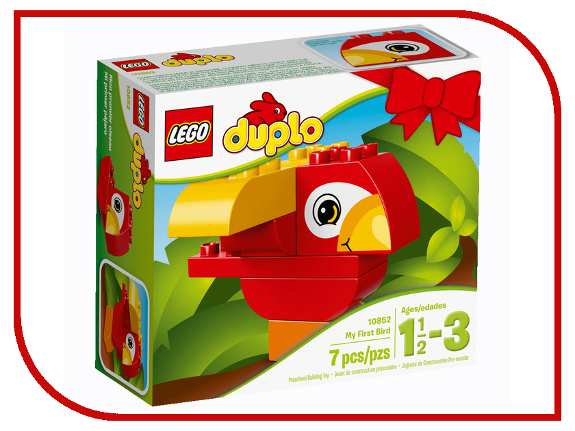 Конструктор Lego Duplo Моя первая птичка 10852 lego duplo конструктор моя первая ферма