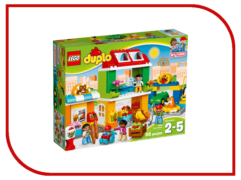 Конструктор Lego Duplo Городская площадь 10836 городская площадь лего 60097