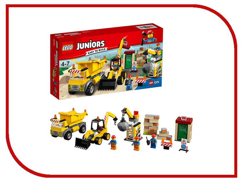 Конструктор Lego Juniors Стройплощадка 10734 lego juniors конструктор финальная гонка флорида 500 10745