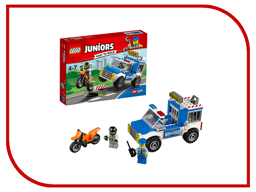 Конструктор Lego Juniors Погоня на полицейском грузовике 10735 конструктор lego juniors ветеринарная клиника мии 10728